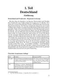 Deutschland und Frankreich – Hegemonie in Europa - Das ...