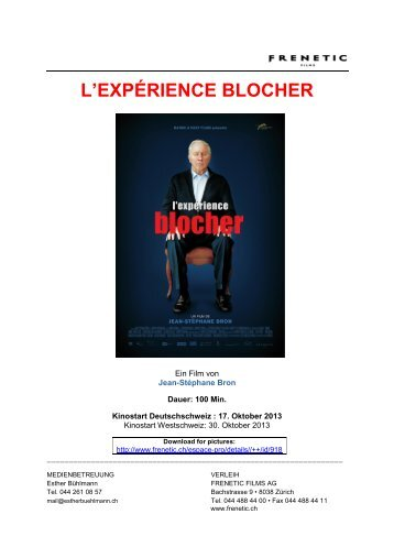 L'EXPÉRIENCE BLOCHER - Frenetic Films