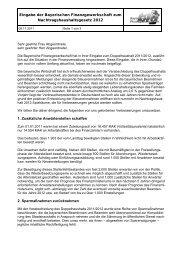 Eingabe bfg - Nachtragshaushaltsgesetz 2012 a - Bayerische ...
