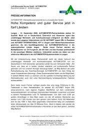 Masterfranchise Ungarn und Rumänien - AUTOMEISTER