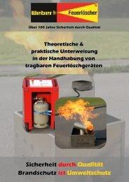Theoretische & praktische Unterweisung in der Handhabung von tragbaren Feuerlöschgeräten
