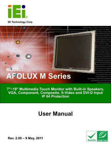AFL M Series Monitor User Manual - iEi