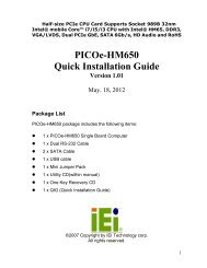 PICOe-HM650 Quick Installation Guide - iEi