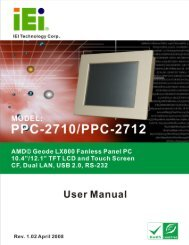 PPC-2710/PPC-2712 Panel PC User Manual - ICPDAS-EUROPE