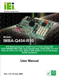 IMBA-Q454-R10 User Manual - iEi