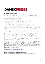 Nyhedsbrevet Dansk Presse uge 34 - Danske Dagblades Forening