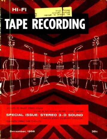 SPECIAL ISSUE: STEREO 3-D SOUND - AmericanRadioHistory.Com