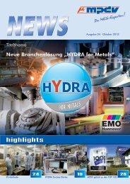 HYDRA for Metals - MPDV Mikrolab GmbH