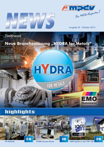HYDRA for Metals - MPDV Mikrolab GmbH