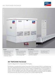 MV TRIPOWER PACKAGE - SMA Solar Technology AG