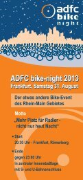 ADFC bike-night 2013 ADFC bike-night 2013 - ADFC Frankfurt
