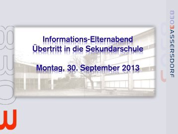 Ãœbertritt PrimarSek 2013 - Bassersdorf
