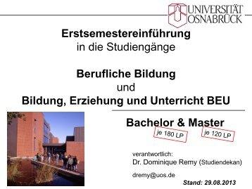 Berufliche Bildung - Biologie - Universität Osnabrück