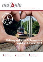 Gleisbauprojekte und Schienenersatz- verkehre ab Sommer 2013 4 ...