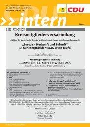 CDU intern-Das Mitgliedermagazin der Ortenau Ausgabe Januar ...
