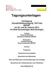 Tagungsunterlagen - Deutsche Feuerwerker Ausbildungs- und ...
