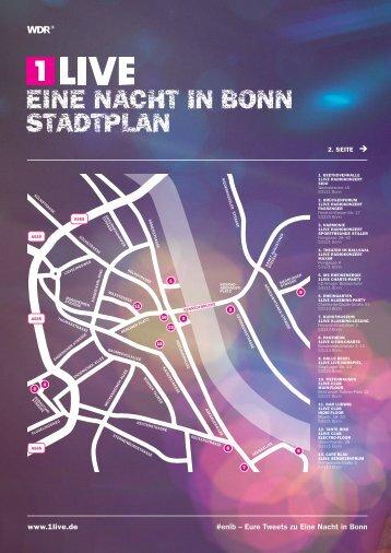 EINE NaCHT IN Bonn Stadtplan - 1Live