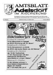 54. Jahrgang Adelsdorf, Freitag, 18. Oktober 2013 Nummer/KW 42
