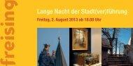 Lange Nacht der Stadt(ver)führung - Stadt Freising