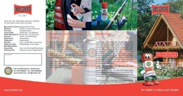 Ihr Helfer in Haus und Garten Motorrad- und Autopflege ... - Ballistol
