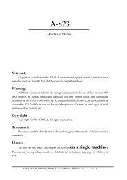 Hardware Manual Warranty Warning Copyright ... - ICP DAS