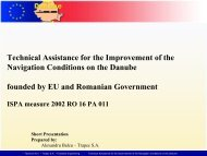 Technical Assistance for the Improvement of the Navigation ... - ICPDR