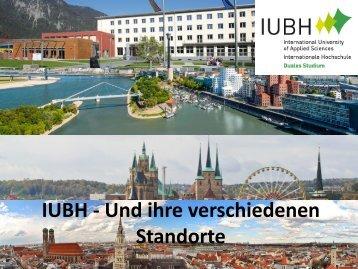 IUBH - Und ihre verschiedenen Standorte