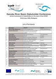 Conference Participants - ICPDR