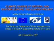 Climate Change in CEE - CLAVIER Project - ICPDR