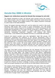 Danube Day 2008 in Ukraine - ICPDR