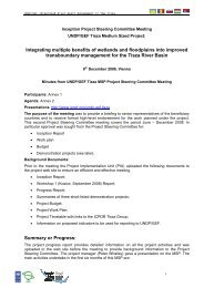 Minutes of the 2nd Project Steering Committee Meeting - ICPDR