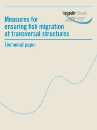 Measures for ensuring fish migration at transverse structures - ICPDR