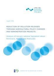 Analysis of current national legislation on fertilizers, manure ... - ICPDR