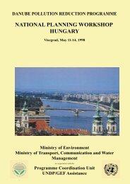 National Planning Workshop Report, September 1998 ... - ICPDR