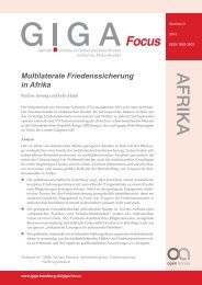 Multilaterale Friedenssicherung in Afrika - GIGA