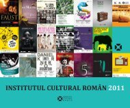 Raport ICR 2011 - Institutul Cultural Român