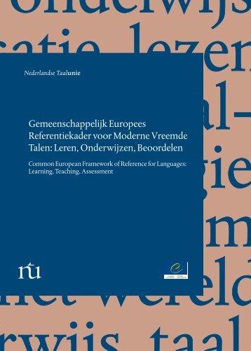 Gemeenschappelijk Europees Referentiekader voor Moderne ...