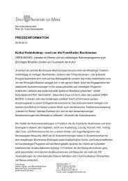 PRESSEINFORMATION Kultur-Kaleidoskop ... - Frankfurt am Main