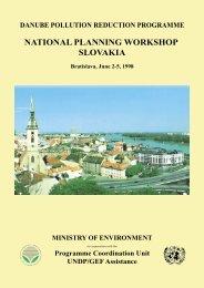 NATIONAL PLANNING WORKSHOP SLOVAKIA - ICPDR