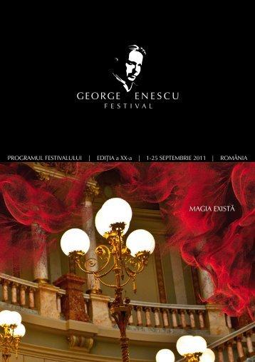 Programul Festivalului - Institutul Cultural Român