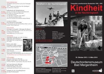 Kindheit in der Nachkriegszeit - Bad Mergentheim