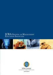 ICRA Grading of Management Education Institutes