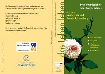 das Leben leben - Krankenpflegevereine Esslingen
