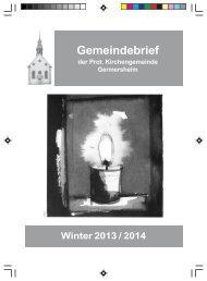 Gemeindebrief Winter 2013 - Evangelische Kirche der Pfalz