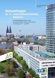 Festschrift (PDF, 5,05 MB) - Landschaftsverband Rheinland