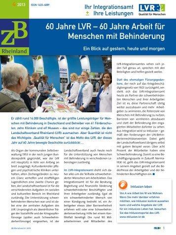 ZB Rheinland 04/2013 - Landschaftsverband Rheinland