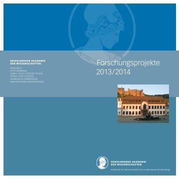 Forschungsprojekte 2013/2014 - Heidelberger Akademie der ...