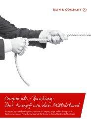 Corporate-Banking: Der Kampf um den Mittelstand - Bain & Company