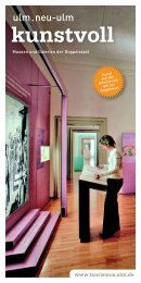 Download der Broschüre (pdf/2,7 MB) - Tourismuszentrale Ulm/Neu ...