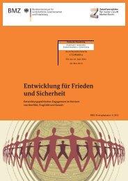 Entwicklung für Frieden und Sicherheit - Deutscher Bundestag